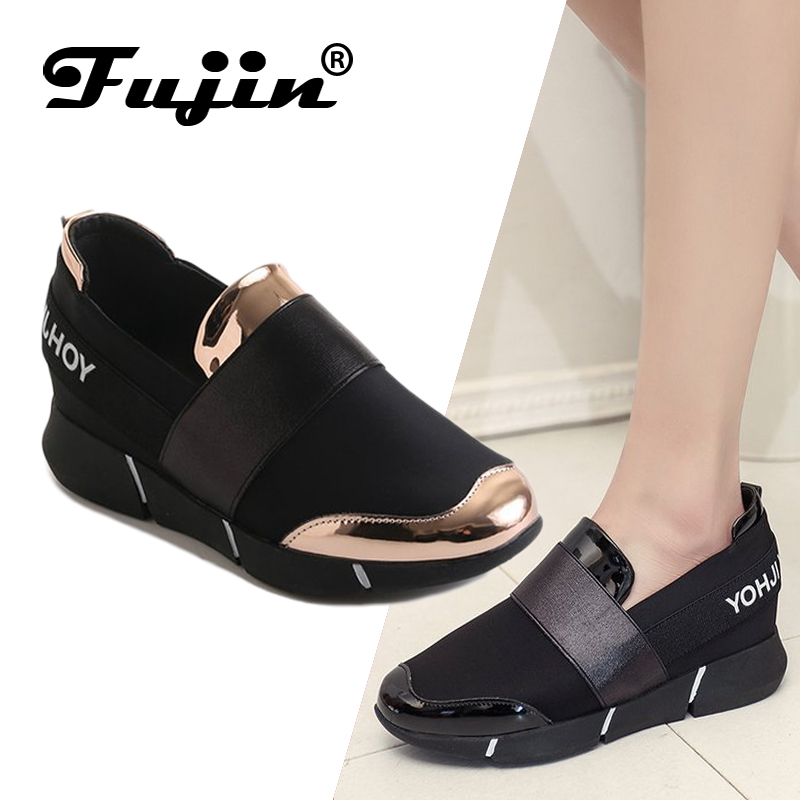 Fujin Spring New Style with Thick Sole Shoes Female Dropshipping A Pedal Casual Shoes Increased Anti Skid Simple Women Shoes