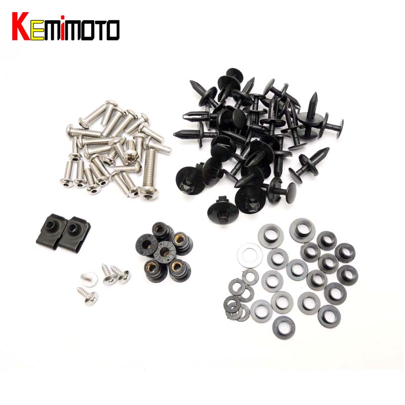 KEMiMOTO For Suzuki GSXR1000 Motorcycle Fairing Bolt Screw Fastener Nut Washer For Suzuki GSX-R1000 2007 2008 after market