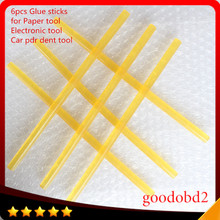 4pcs/set Hot Melt Glue Sticks 11MM *260MM Melt Adhesive PDR Glue Stick Work With Hot Glue Gun Hand Tools Set Ferramentas newacalox eu plug hot melt glue gun 10 pcs glue sticks 4 pcs fixed clip carving knife set a4 cutting mat diy combination set