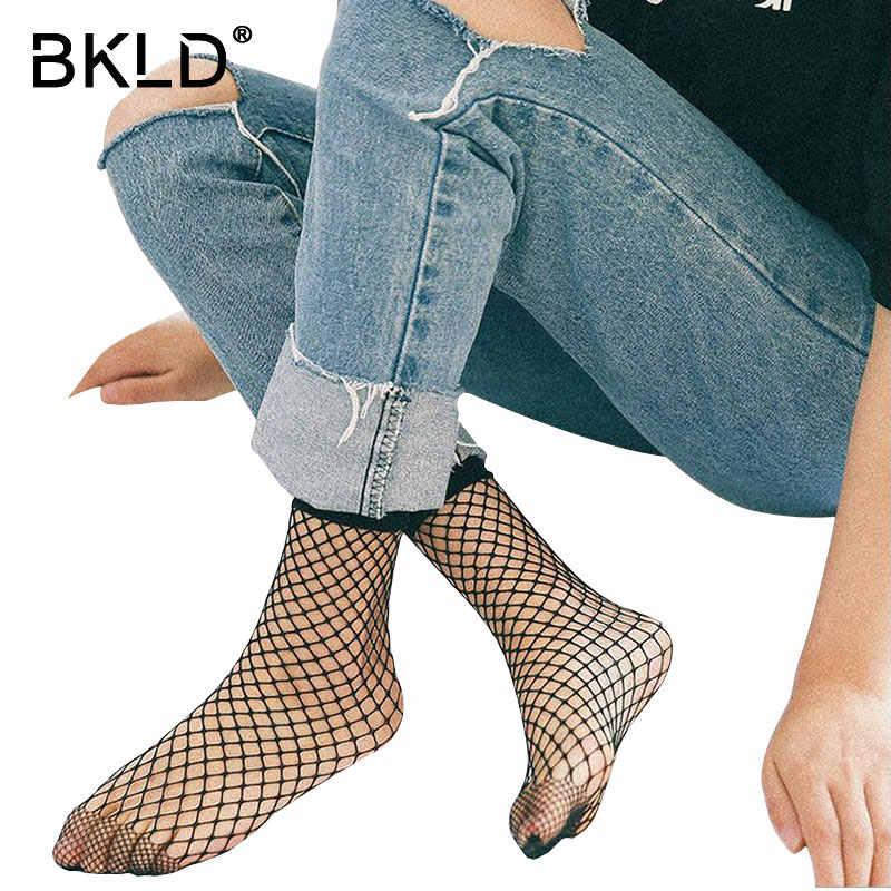 Bkld Новое поступление Мода 2018 Лидер продаж Для женщин пикантные Открытые черные дышащие ажурные сетки короткие носки прозрачные Носки для девочек Femme