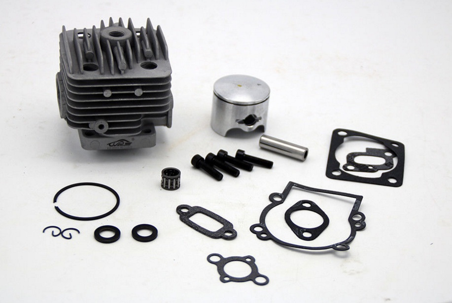 35cc 4 Bolt Cylinder Head Piston Set fit TSRC Engine ONLY 1/5 Baja 5B 5T 5SC 38mm engine housing cylinder piston crankcase kit fit husqvarna 137 142 chaisnaw