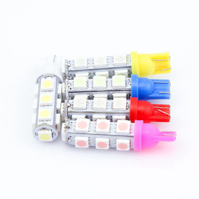 wholesale White T10 13 SMD 5050 car side Light Bulb 194 168 W5W LED Wedge Bulbs car led 1PCS 10pcs new hot t10 wedge 5 smd 5050 xenon car led light bulbs 192 168 194 w5w 2825 158 cool white