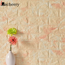 New Waterproof PE Form 3D Wallpapers for Living Room Wall Brick Self adhesive Decals Bedroom Stickers Home Decor