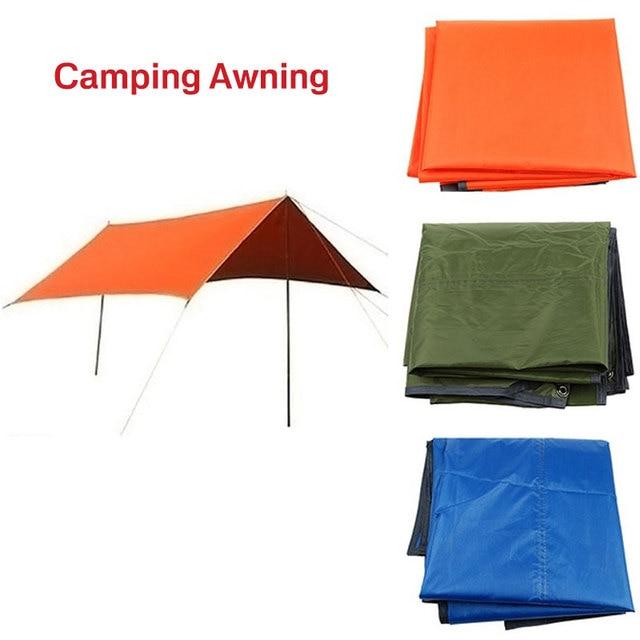 1.4X1.5M Oxford cloth Ultralight Sun Shelter Camping Mat Beach Tent Pergola Awning Canopy Taffeta Tarp Camping Sunshelter