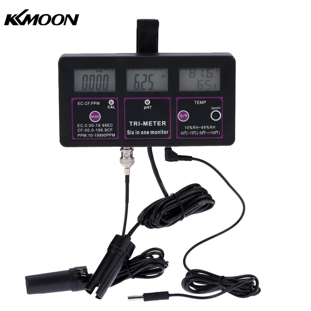 6 in 1 Water Quality Tester Monitor ph meter Multi parameter aquarium Water Meter for test