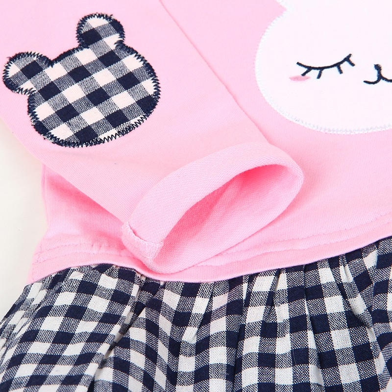 Bear Leader Girls Dress 2017 Spring Casual Style Baby Girl Clothes Long Sleeve Cartoon Bunny Print Plaid Dress for Kids Clothes 29