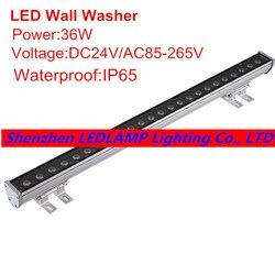 1 шт. 36 Вт светодиодный настенный светильник, светодиодный уличный светильник, прожектор светильник AC85 - 265 в изменяемый цвет ландшафтный све...