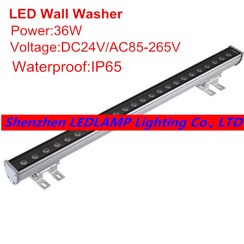 DHL/Fedex Free shipping 36W LED Wall Washer Light,LED outdoor light,Floodlight DC24V AC85 - 265V Blue/Green/Red/Warm/Cold/RGB цена