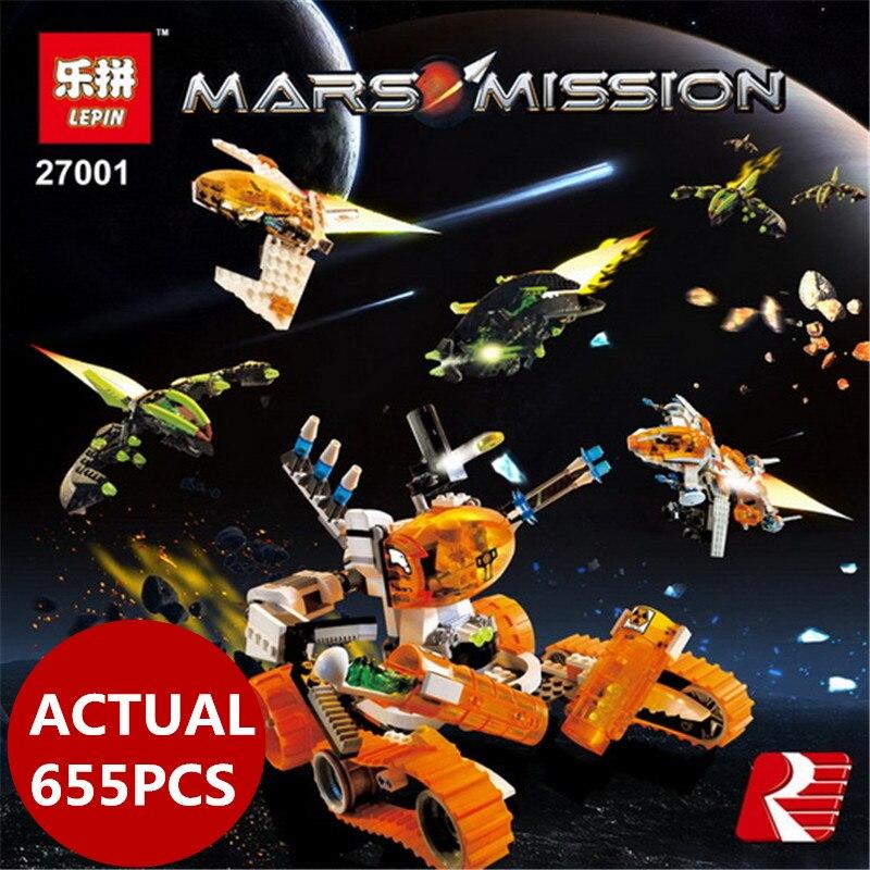 Lepin 27001 Mar Mission 655Pcs Space Series The Mt-101 Amoured Drilling Set Educational Building Blocks Bricks 7699 boy toys goorin bros 101 4283 mar