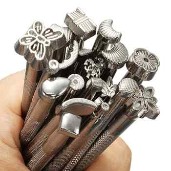 20pcs/lot Metal Stamp Set Leather Stamp DIY Stamp Carving Tools Leather Working Saddle Making Tools - DISCOUNT ITEM  29% OFF All Category