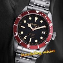 Парнис 41 мм черный циферблат сапфировое стекло красный beze10ATM MIYOTA Автоматические мужские часы