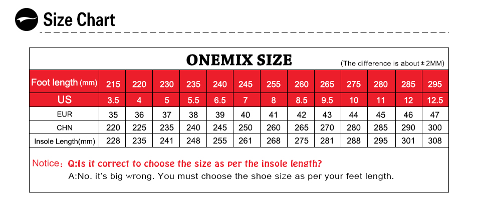 Onemix Men's Running Shoes Breathable Zapatillas Hombre Outdoor Sport Sneakers Lightweigh Walking Shoes Plus Size 39-47 Sneakers 2