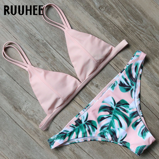 da2aad36bfa5e RUUHEE Bikini Sexy Swimwear Women Swimsuit 2018 Bikini Set Push Up Bathing  Suit Mid Cut Female Beachwear Swimming Suit For Women