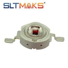 Sltmaks 10 шт./лот высокое Мощность светодиодный чип 740nm 850nm ИК светодиодный инфракрасный 3 Вт 5 Вт излучатель света светодиодные лампы бусины для светодиодных светать