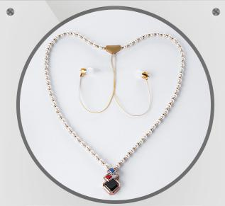 ФОТО TP-ZOOM Pearl model Necklace Bluetooth headset BL-101