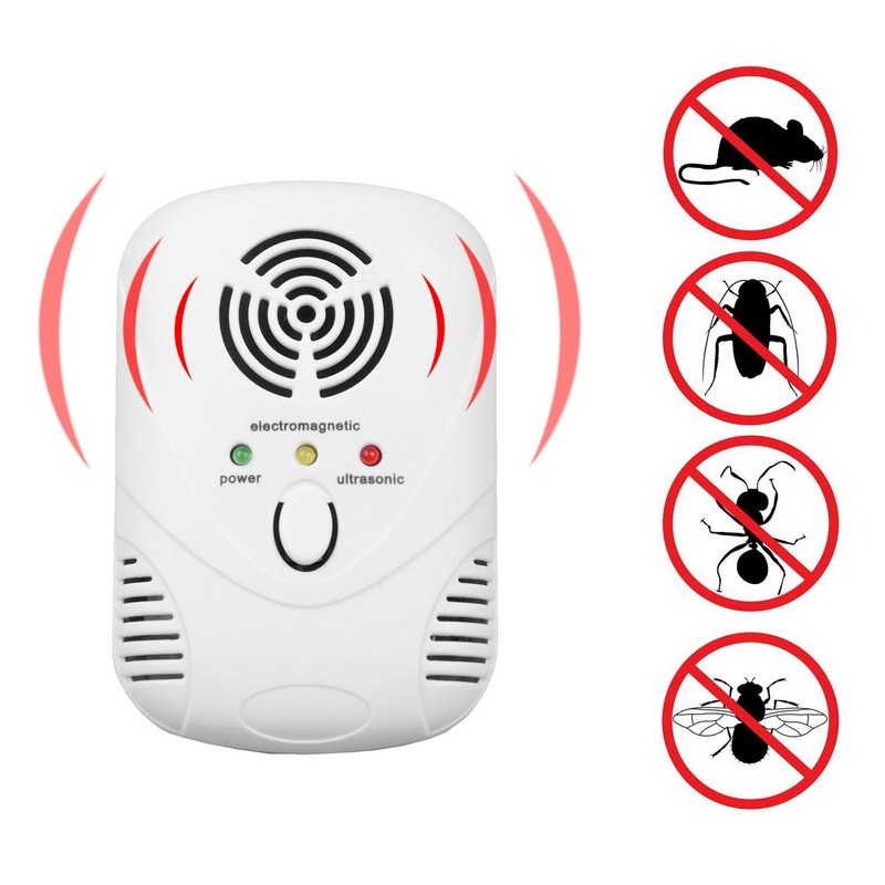 Electronic Ultrasonic Mosquito Killer Mouse Trap Mosquito Repellent Insect Cockroach Trap Pest Control US/EU Plug
