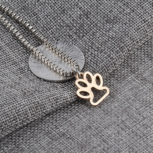 Miss Zoe Lettering LIVE LOVE RESCUE Hollow Gold Paw Claw Pendant Necklace Angel Pet Simple Jewelry Special Gift Adopt Dog Lovers 2