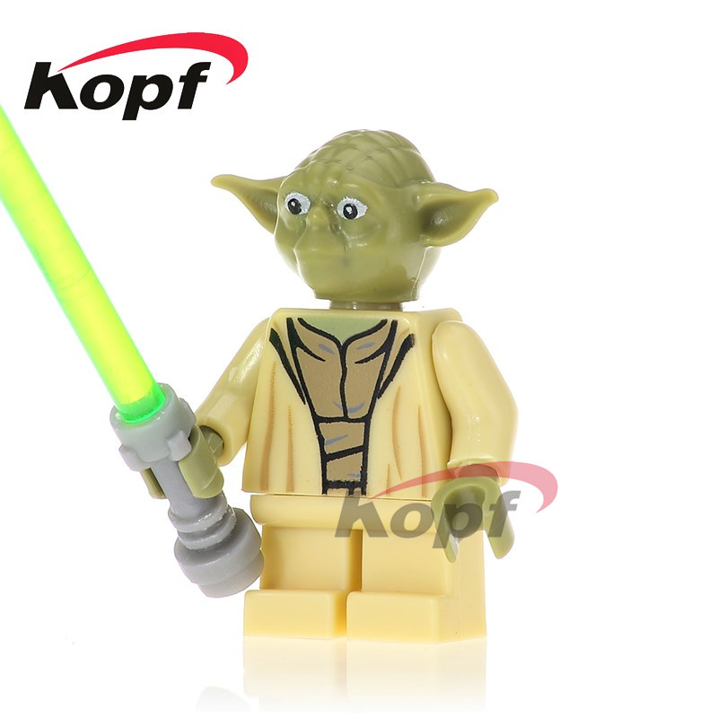 PG748 Yoda With Green Lightsaber First Order Officer The Force Building Blocks Bricks Collection For Children Gifts Toys PG8069