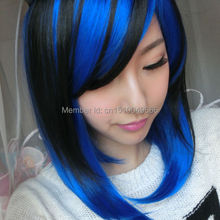 YJ2120>>>Light blue mixed black anime role-playing