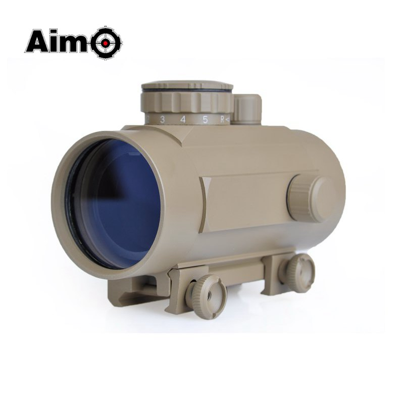 Aim-O Hunting Tactical Holographic Riflescope 1x40 Red green Dot Sight For Airsoft Rifle Scope 11mm 20mm Weaver Mount AO3012