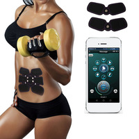 Electric Shock EMS Fitness Massager Electro Pulse Phone APP Wireless Remote Control Sports Abdomen Arm Muscle Exerciser Machine