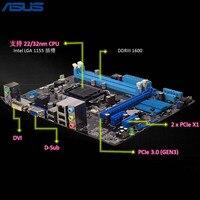 Asus H61M K материнской H61 чип Поддержка разъем LGA 1155 i3 i5 i7 DDR3 16 г