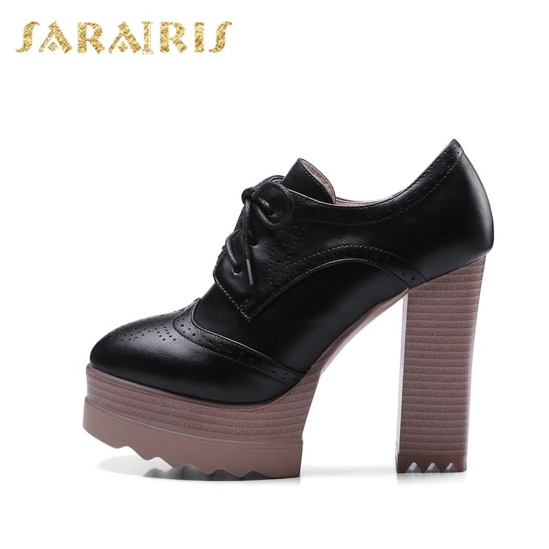 78a45a98fe noir forme Chaussures Taille Talons 42 tuo 32 Plate Femmes Carré Derbies Up  Haute Sarairis Se Lady Beige Pompes Lace rose Femme Grande 7xUwp5qcz