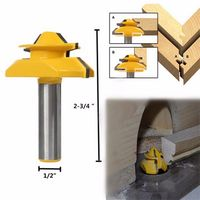 1PC Small Lock Miter Wood Router Bit 45 Degree Tenon Cutter 1 2 Inch Woodworking Milling