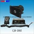 CJB-200Z 200 W sirena de Policía de Alta calidad con Micrófono, DC12V, 10 tonos, 2 interruptores de control de luz, 8ohm, con altavoz