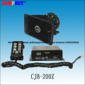 CJB-200Z High quality 200W Police siren with Microphone,DC12V,10tones,2 light control switches,8ohm ,with speaker
