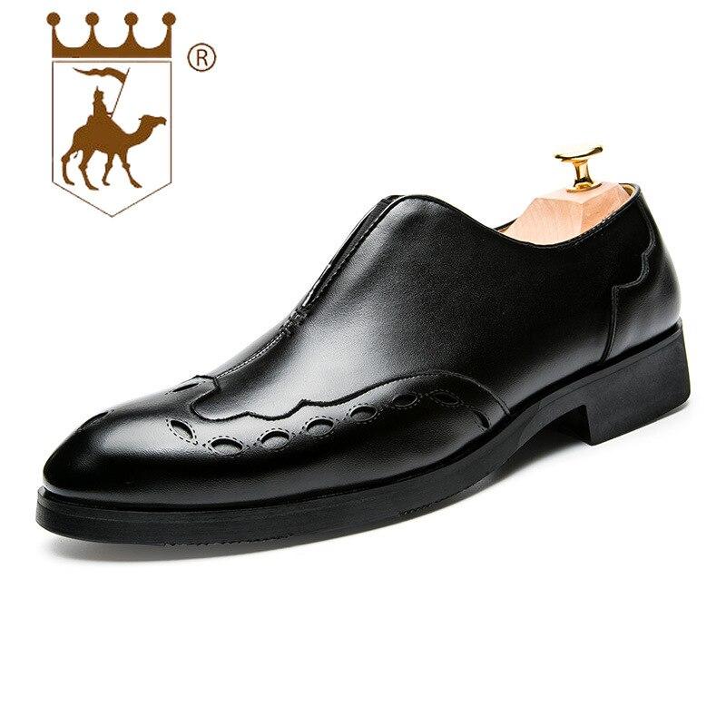 Desgaste 43 Pu resistente Comfortsize39 Black Vestido Respirável Homens Sapatos Sola Ao Borracha Da De Moda Novo Backcamel2019 Pé Apontou Negócio Dos EHnaqE6U