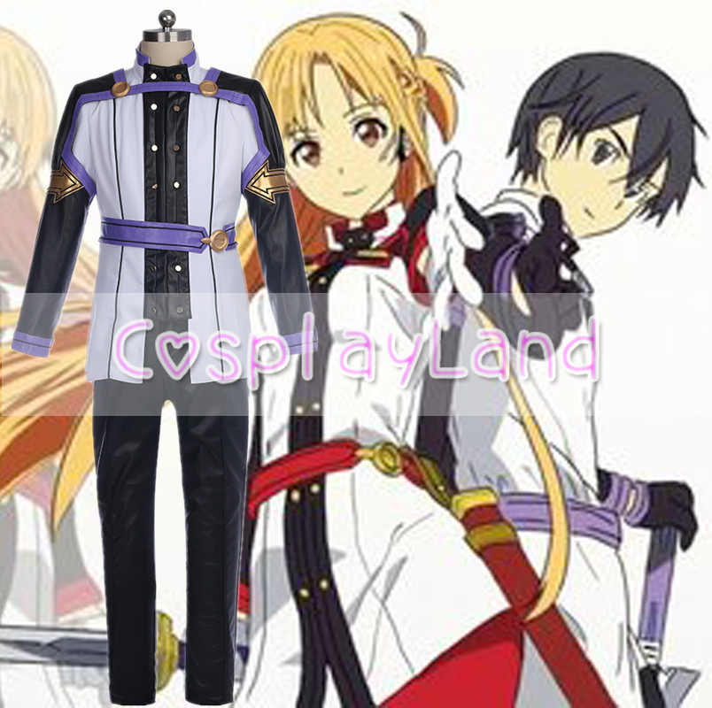 Movie Sword Art Online Ordinal Scale Kirigaya Kazuto Cosplay Costume Carnival Halloween Cosplay Kirito Costume Custom Made Suit