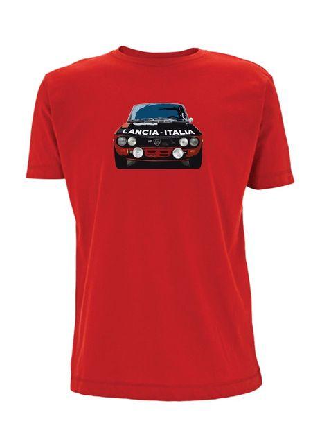 Lancia Fulvia Monte Carlo T Shirt Italia Rally Car HF Classic - Car show t shirts