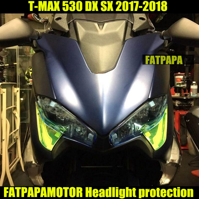 Motorcycle Accessories Headlight Protection Cover For YAMAHA TMAX 530 TMAX530 DX SX 2017 2018Motorcycle Accessories Headlight Protection Cover For YAMAHA TMAX 530 TMAX530 DX SX 2017 2018