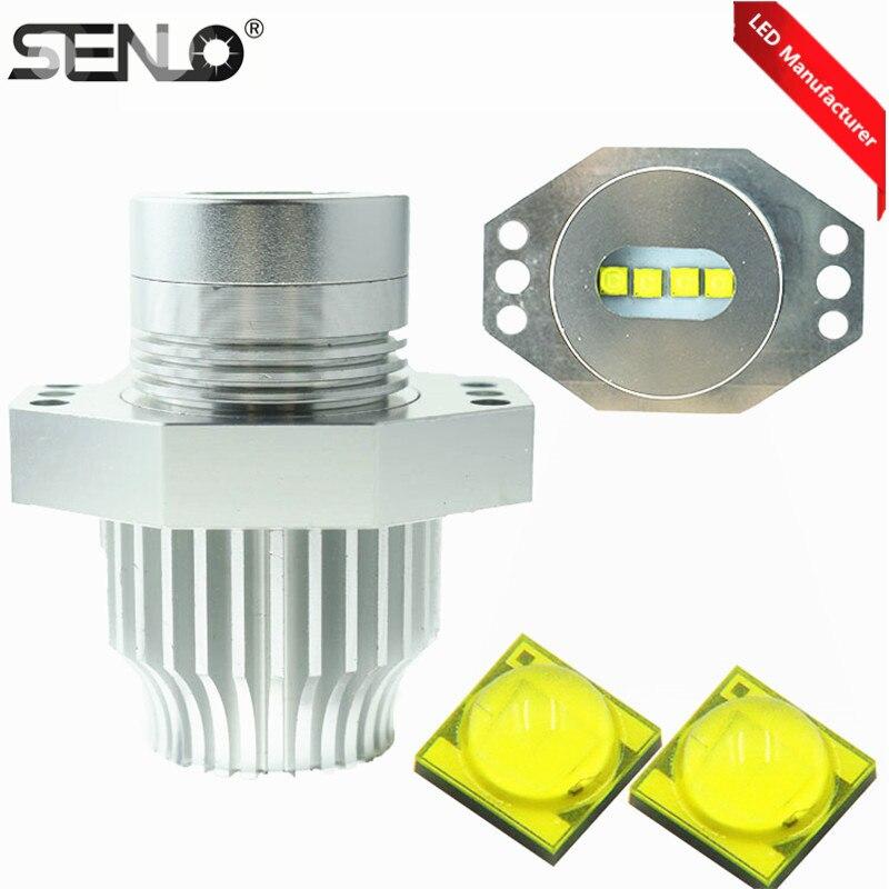 Senlo E90 Angel Eyes Auto pièces 40 W LED adapté pour BMW E60 E87 E39 E61 F10 E92 H8 voiture indicateur LED lumières Halo anneau lumière lampe