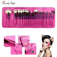 Pro Fashion 24PCS Beautiful Makeup Brushes Set Cosmetics Powder Eyeshadow Make Up Blush Soft Brushes Mquiagem