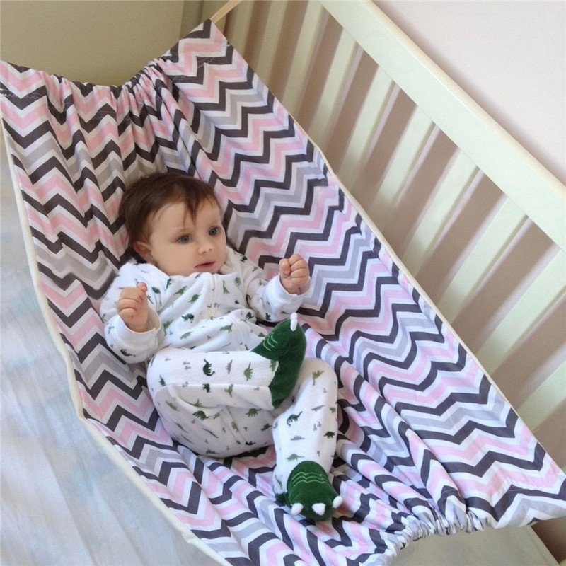 Baby Infants Solid Color Hammock Family Detachable Portable Folding Bed Kit Newborn Sleeping Bed Outdoor Garden Swing Baby Crib Good Heat Preservation Crib Netting Mother & Kids