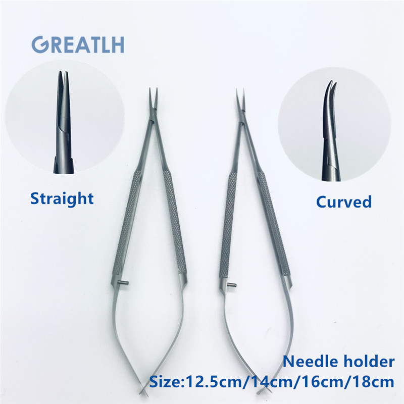 1pcs Stainless Steel Needle Holders Ophthalmic Microsurgical Instruments Surgical Tools High Quality
