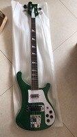 Wholesale 4003 ELECTRIC BASS GUITAR Rick 4003 Through Neck Guitar In Metal Green Flash Green 180106