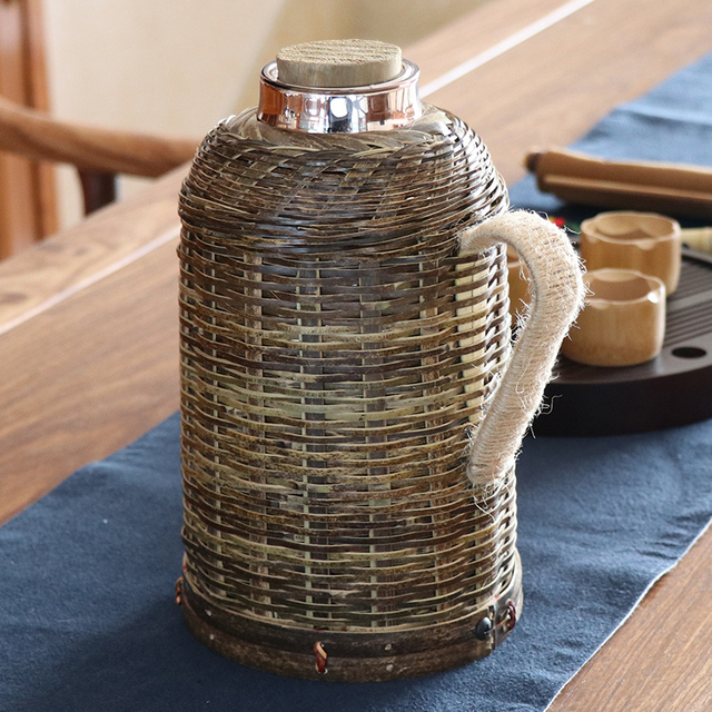 Bamboo Woven Style Thermos 2