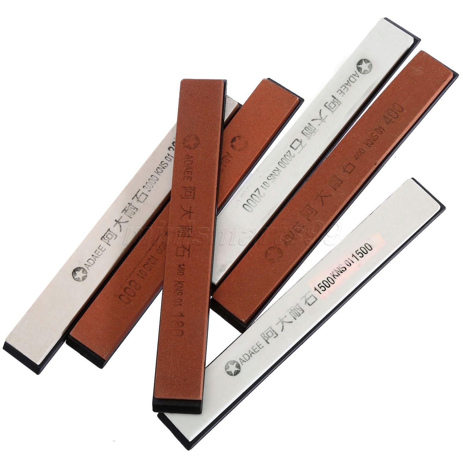 180/400/800/1500/2000/3000 Grit Knife Sharpening Sharpener Drindstones Profesionální kuchyňský jídelní nůž Ořezávátko Abrader