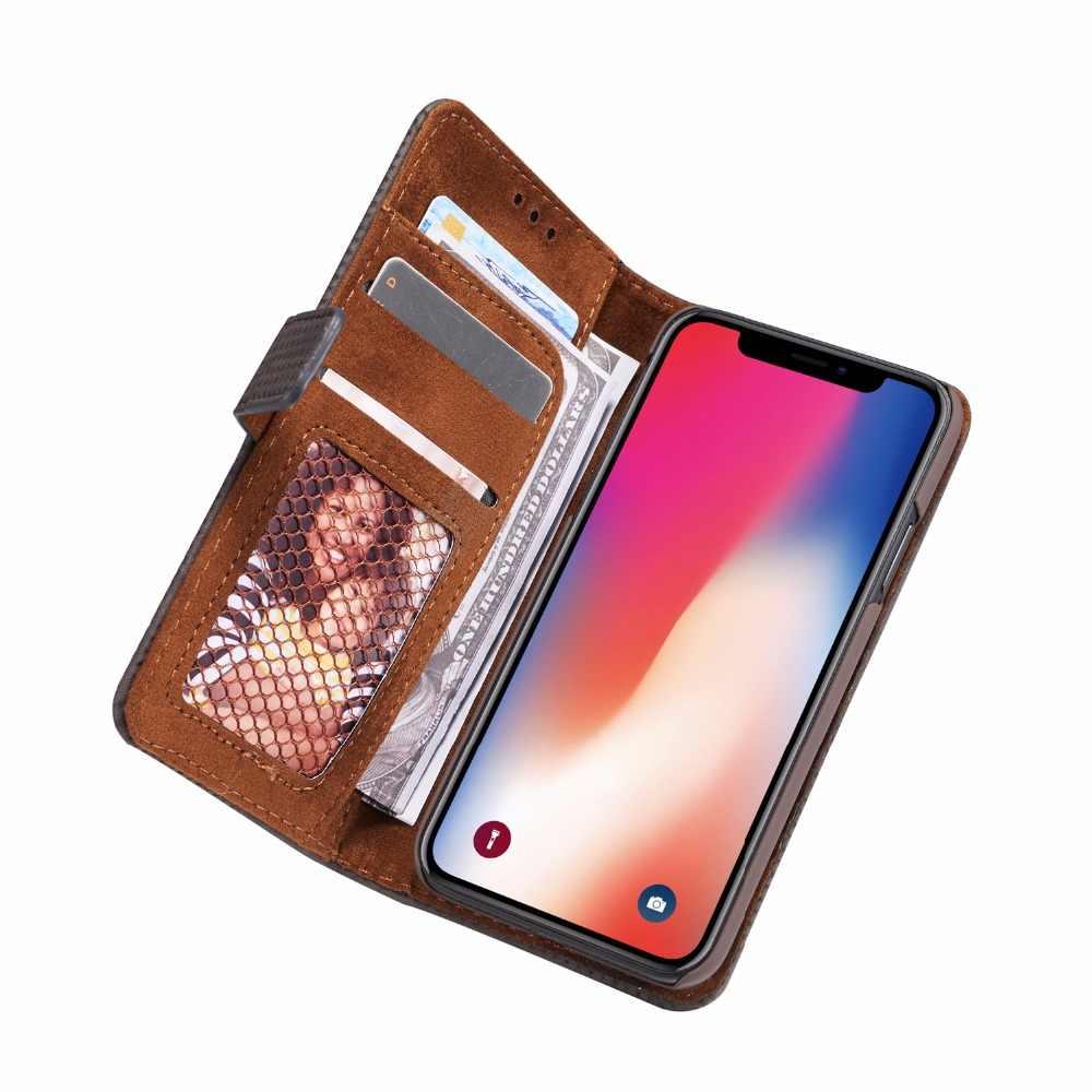 Ретро сетчатый PU кожаный чехол для iPhone X XR Xs Max 8 7 6 6S Plus 5s SE чехол для телефона мобильный чехол закрытый Магнитный откидной Чехол