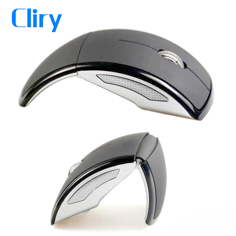 Cliry 2.4G Folding Wireless Optical Mouse Computer Cordless Professional Flexible Usb Dongle Mice For Laptop Desktop Computer