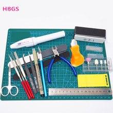 Hobby, modelagem de ferramentas, conjunto de ferramentas diy, acessórios de corte, máquina de moagem de auto cura, kit de ferramentas de polimento para gundam