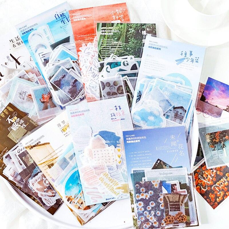 40pcs/Pack Romantic Time Series Scrapbook Sticker Creative Kawaii Diy Decorative Adhesive Labels Sticker Bullet Journal Supplies