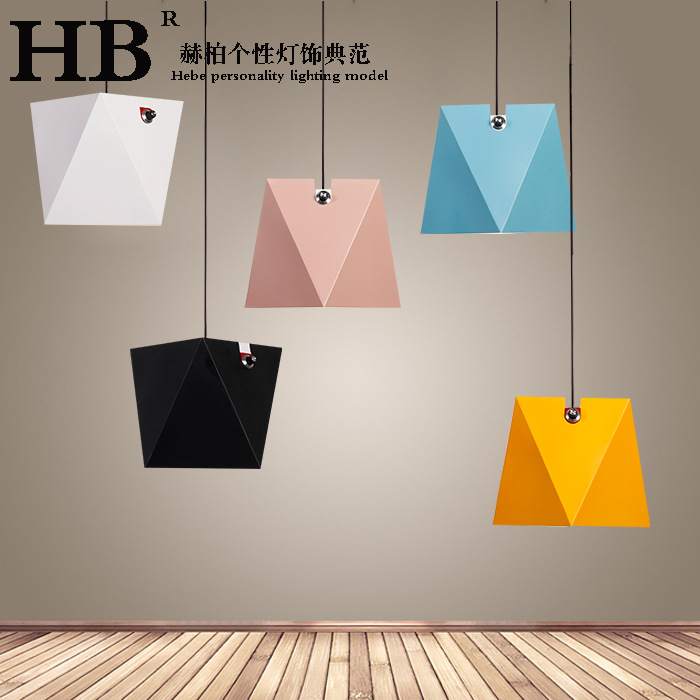 Simple modern Nordic Creative Personality metal E27 led pendent lights for Japanese Rest ...