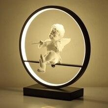 Moderne Tisch Lampe LED Schreibtisch Lichter Runde Acryl Hause Dekorative Lampadas Tisch Lichter für Schlafzimmer Wohnzimmer Nacht Beleuchtung