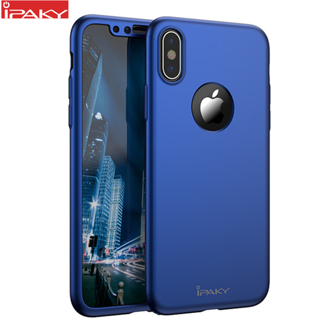 best loved 65ac6 bf2ea US $4.89 66% OFF|for iPhone X Case IPAKY Brand Case for Apple iPhone Xs Xs  Max XR with Screen Protector Full Body Case for iPhone Xs 360 Case-in ...