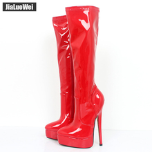 Customized Women Boots Autumn Winter Shoes Woman Pointed Toe High Heel Knee-High Long Boots Plus Size Free shipping