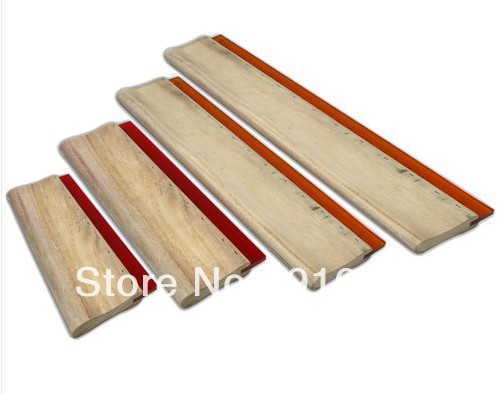 Fast Free shipping 4 pcs Screen Printing Squeegee Tools Materials 6.3/9.4/13/18 16cm/24cm/33cm/46cm free shipping discount cheap 2 pcs silk screen printing squeegee 24cm 33cm 9 4 13inch ink scaper tools materials